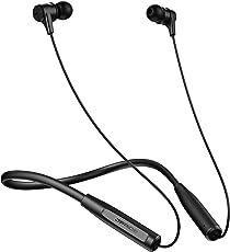 【 12時間連続 AAC & aptX 上位コーデック対応 】5つの音色切り替え可能 ~ 高音質 Bluetooth イヤホン (JPRiDE) 412 大口径 10mm HD ドライバ 搭載 iPhone対応 着信バイブレーション付ネックバンド - IPX4 防水 CVC6.0 マイク内蔵 ハンズフリー通話 技適認証済 (AAC APT-X コーデック 対応 黒)