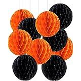 しあわせ倉庫 ハロウィン 飾り ペーパー ハニカムボール 10個セット 装飾 飾り付け パーティー (10個セット)