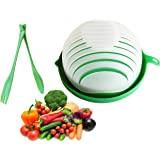 5 in 1 Salad Cutter Bowl | 60 Second Salad | Easy Slicer Chopper Strainer Cutting Board All in One | Strong and Durable| Frui