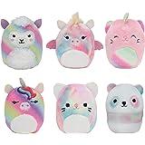 "Squishville by Squishmallow Mystery Mini Plush Rainbow Dream Squad, Six 2"" Soft Mini-Squishmallow Rainbow Animals, Irresistib"