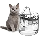 OZ PETS CHOSEN Cat Water Fountain, 1.8L Clear Automatic Water Dispenser for Pet Drinking Fountain, Dog Water Dispenser, Ultra