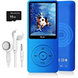 MP3 Player, Music Player with 16GB Micro SD Card, Ultra Slim Music Player with Build-in Speaker, Photo Viewer, Video Play, FM
