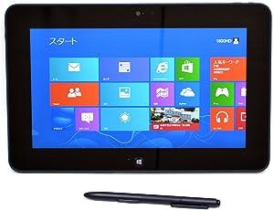 Windows8Pro 10.1インチタブレット DELL Latitude 10 TAB-10-1800HD Atom Z2760 1.8GHz メモリ2G MMC64GB 両面カメラ搭載 スタイラスペン