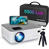 WiFi Projector Bluetooth Projector, Fangor 4500 Lux Portable Movie Projector Full HD 1080P Supported, Compatible with TV Stic