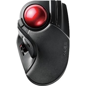 エレコム トラックボールマウス 無線 大玉 8ボタン チルト機能 ブラック M-HT1DRXBK