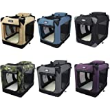 """EliteField 3-Door Folding Soft Dog Crate, Indoor & Outdoor Pet Home, Multiple Sizes and Colors Available (36"""" L x 24"""" W x 28"""""""