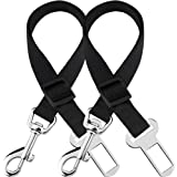 SunGrow Car Seat Belts for Dogs and Cats, Adjustable from 19-inches to 31-inches, Nylon Belt, Support All Cars, 2 Belts per P