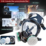 Reusable Full Face Cover, Gas Respirator Face Cover, Paint Face Cover for Painting, Machine Polishing, Welding and Other Work