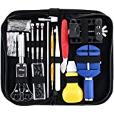 147 PCS Watch Repair Kit, HOME-MART Professional Watchmaker Tool Kit Watch Back Case Holder Opener Link Remover Spring Bar Pi