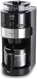 シロカ コーン式全自動コーヒーメーカー [アイスコーヒー対応/予約タイマー/自動計量] SC-C111