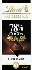 Lindt Excellence Dark Chocolate, 78% Dark, 100g