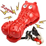 Squeaky Dog Toy for Aggressive Chewers, Indestructible Dog Toy with Beef Flavor Tough Dog Toy for Large Medium Small Dogs Non
