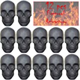 FYZTCOCPT 12PCS Skull Charcoal (Refractory) Imitated Human Skull Gas Log for Indoor or Outdoor Fireplaces, Fire Pits Hallowee