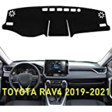 ABESTcar Dash Cover Mat for Toyota RAV4 2019 2020 Custom Fit Dashboard Cover Center Console Cover Sunshield Protector RAV 4 A