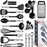 Kitchen Utensil Set 24 Nylon and Stainless Steel Utensil Set, Non-Stick and Heat Resistant Cooking Utensils Set, Kitchen Tool