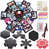 Koogel Explosion box Set,17.5 x 16inch Album Gift Box Creative Album Surprise Album Sticker Box for Marriage Proposals Making