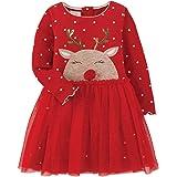 Mud Pie Baby Girls' Reindeer Mesh Dress