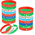 Coogam 40PCS Christmas Silicone Bracelets, Xmas Rubber Wristbands Accessories  Kids Adults, Holiday Decoration Wrist Band Par