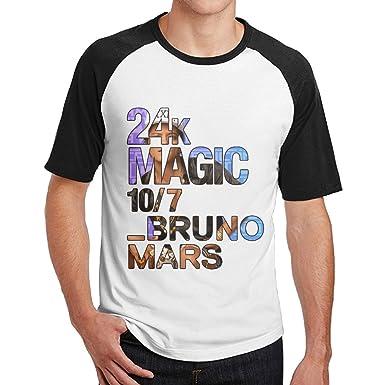 メンズ ブルーノマーズ 24K Magic Tシャツ Tシャツ コットン 通気性 Small Black