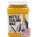 Blended Waxes, Inc. Bright Yellow Bottle Sealing Wax 1 lb. Pastilles - Resilient and Versatile Bottling Wax For Wine, Beer, a