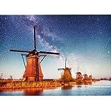 Minisan パズル 500ピース ジグソーパズル オランダの風車 外国 風景 知育 puzzle (38x52cm)
