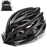 KINGBIKE Ultralight Specialized Bike Helmets CPSC&CE Certified with Rear Light + Portable Simple Backpack + Detachable Visor