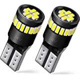 AUXITO Super Bright LED Bulbs 168 175 194 2825 W5W T10 24-SMD 3014 Chipsets 6000K White for Car Dome Map Door Courtesy Licens