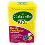 Culturelle Kids Chewable Daily Probiotic for Kids | Natural Berry Flavor Daily Supplement | 60 Count | Age 3+ | 100% Naturall