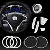 JINGSEN Bling Steering Wheel Accessories for Honda Accessories Bling CIVIC Accord Fit CRV HRV Pilot Odyssey Clarity Cover Int