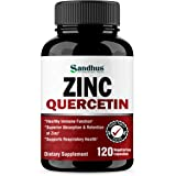 Zinc with Quercetin Seasonal Allergy Relief Best Quercetin Zinc Vitamin Supplement for Immune Support, Cardiovascular Health