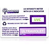 Quantadose UVC Light Test Card with UVC Light Wavelength Indicator and Intensity Test