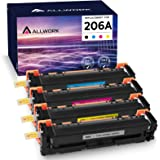 Allwork Compatible Toner Cartridge Replacement for HP 206A W2110A for use with HP Color Laserjet Pro M255dw, M283fdw, M283cdw