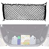 iJDMTOY 40 x 20 Inches Large Size Universal Double-Layer Nylon Trunk Cargo Storage Organizer Net w/ 4 Mounting Hooks for Car