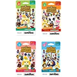 Nintendo Animal Crossing amiibo Cards Series 1, 2, 3, 4 for Nintendo Wii U and 3DS, 1-Pack (6 Cards/Pack) (Bundle) Includes 2