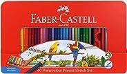 ファーバーカステル 水彩 色鉛筆 平缶 60色セット TFC-WCP/60C