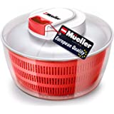 Mueller Salad Spinner with QuickChop Pull Chopper, Vegetable Washer with Bowl, Anti-Wobble Tech, Lockable Colander Basket and