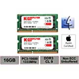 Komputerbay 16GB 1333MHz ノートPC用メモリ 204Pin SO-DIMM DDR3-1333 PC3-10600 8GB×2枚組 永久保証
