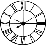 "36"" Blue Grey Metal Cut Out Roman Numeral Wall Clock"