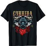 コリダスペイン闘牛スタイルの雄牛 Tシャツ