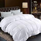 Comforter King Size White All Season Reversible Down Alternative Duvet Insert with Corner Tabs - Hotel Quality Winter Warm So