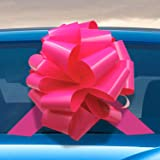 16inch Big Car Bow Giant Extra Large Pink Bow for Cars, Birthday Presents, Christmas Presents, Large Gift Decoration