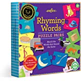 eeBoo Preschool Rhyming Puzzle Pairs for Toddlers 3 Years and Up, multi