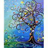 EOBROMD 5D DIY Full Diamond Painting by Number Kits Crafts & Sewing Cross StitchWall Stickers for Living Room Decoration, Lov