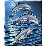 Dolphins Fleece Throw Blanket - Size