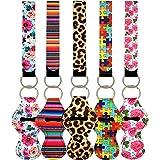 10pcs Vibrant Chapstick Holder Keychains, Neoprene Chapstick Sleeve Pouch Wristlet Lanyards Lip Balm Holders Lipstick Holder