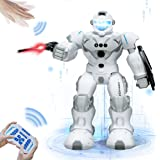 Robots Toy,Programmable Remote Control Robot Intelligent with Infrared Control & Gesture Sensing,Shield,Launch Darts,Singing