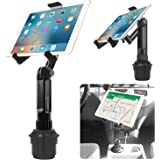 Cup Holder Tablet Mount, Tablet Car Cradle Holder Made by Cellet Compatible for iPad Pro/Air 2019/Mini iPad 9.7 Samsung Galax