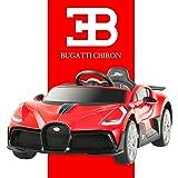 Advwin 12V Electric Kids Ride On Car Bugatti Divo Toy Cars Remote Control Motors Red