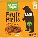 BEAR Real Fruit Rolls - Mango - Natural Fruit Snack - No Added Sugar - Gluten Free Snack - Vegan Fruit Snack - Healthy On The