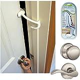 DOOR MONKEY Door Lock & Pinch Guard - Safety Door Lock For Kids - Baby Proof Door Lock For Bedrooms, Bathrooms & Kitchens - E